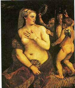 Венера с зеркалом / худ. В. Тициан