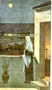Св. Женевьева смотрит на спящий Париж / худ. П. де Шаванн