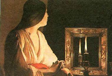 Магдалина с двумя свечами / худ. Ж. Латур