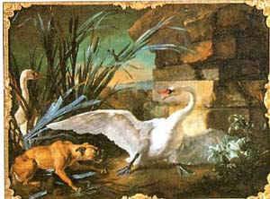 Лебеди и собака / худ.Ж. Одри