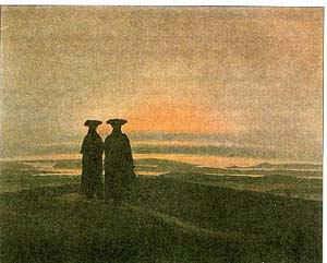 Двое на берегу / худ. К. Фридрих