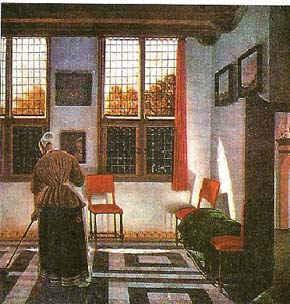 Комната в голландском доме / худ. П. Янсенс