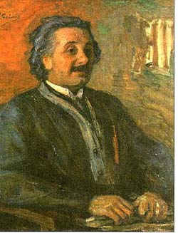 Портрет А. Энштейна / худ. Л. Пастернак
