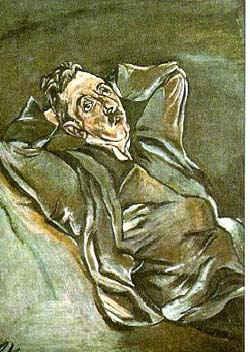 Портрет А. Энштейна / худ. О. Кокошка