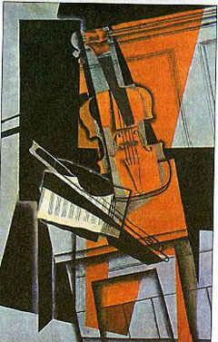 Скрипка / худ. Х. Грис