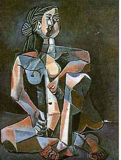 Сидящая купальщица / худ. П. Пикассо