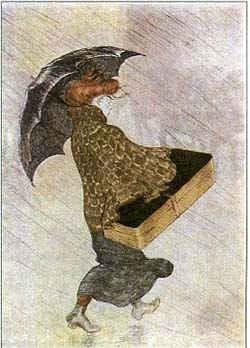 Девушка-рассыльная под дождем / худ. Т.Стейнлен