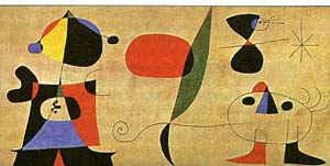 Настенная живопись для Иоакима Гомиса (Ухаживание) / худ. Х. Миро