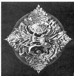 Тетраэдрический планетоид / худ. М. Эшер