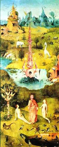 Рай (левая створка триптиха [Сад наслаждений]) / худ. И. Босх