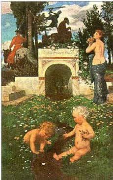 Три возраста / худ. А. Бёклин