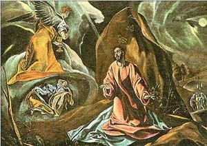 Моление о чаше (фрагмент картины [Христос на Масличной горе]) / худ. Эль Греко