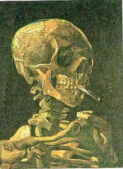 Смерть с сигаретой / худ. В. Ван Гог