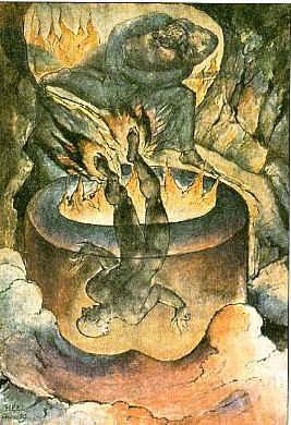 Девятый круг ада (илл. к [Божественной комедии] Данте) / худ. У. Блейк