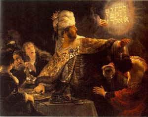 Мене, текел. фарес/ худ. Рембрандт