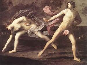 Аталанта и Гипоменей / худ.Г.Рени