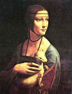 Дама с горностаем/ худ. Леонардо да Винчи