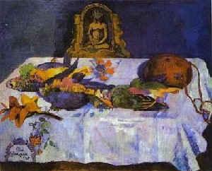 Натюрморт с мертвыми попугаями / худ. П.Гоген