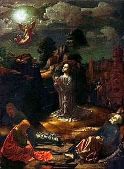 Христос на Масличной горе / худ. Я. Госсарт