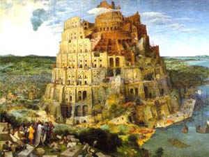 Вавилонская башня / худ. П. Брейгель
